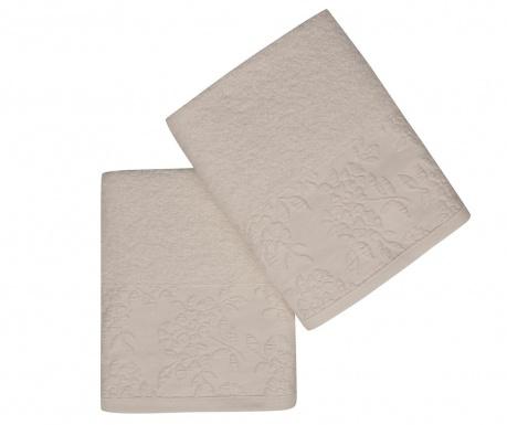 Set 2 kupaonska ručnika Pamela Ecru 50x90 cm