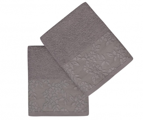 Set 2 kupaonska ručnika Pamela Grey 50x90 cm