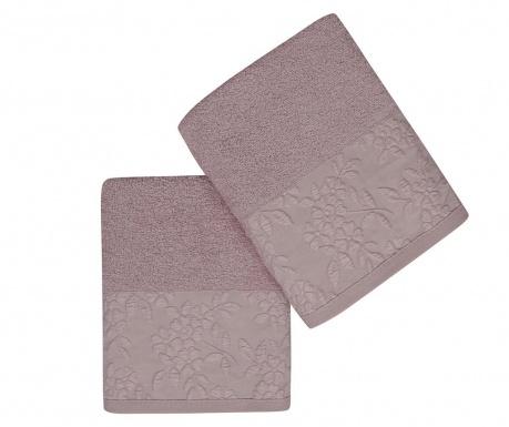 Комплект 2 кърпи за баня Pamela Lilac 50x90 см