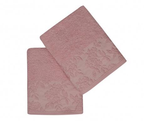 Sada 2 ručníků Pamela Pink 50x90 cm