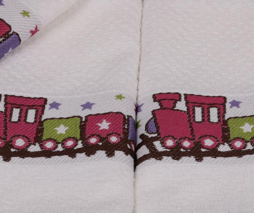Set 6 dječjih kupaonskih ručnika Bordurlu Tren 30x50 cm