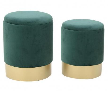 Set 2 taburejev Elegance Green