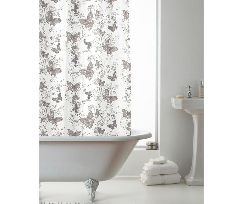 Zavesa za prho Butterfly Grey 180x180 cm