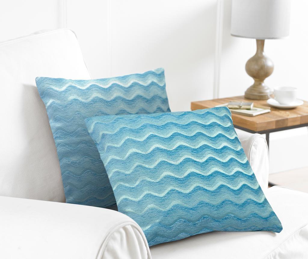 Set 2 jastučnice Wavy Blue 43x43 cm