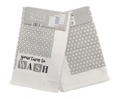 Комплект 3 кухненски кърпи You Wash 38x64 см