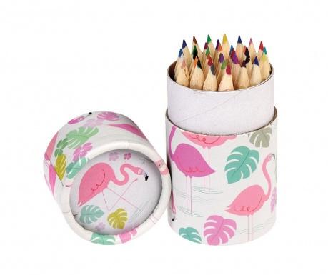 Set 36 creioane colorate in suport Flamingo