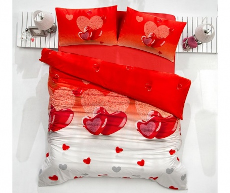 Posteljnina Single Extra Supreme Sateen Lovery Red