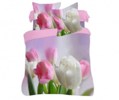 Σετ κλινοσκεπάσματα Μονό Extra Supreme Ranforce 3D Tulips Spendor