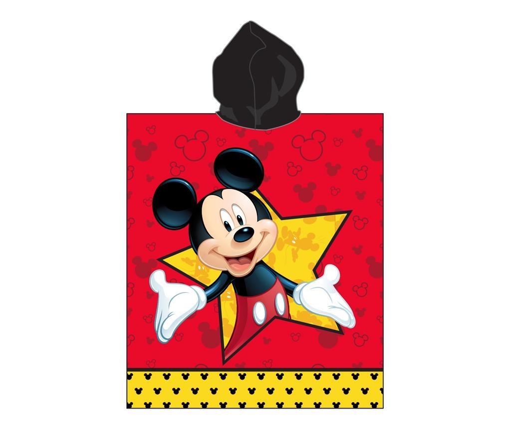 Prosop poncho copii Mickey Mouse Star