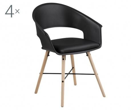 Set 4 stolice Ivar Black