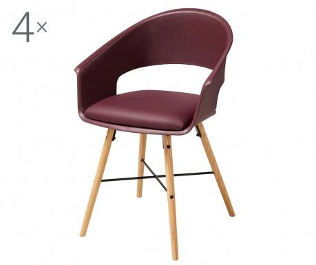 Set 4 stolice Ivar Burgundy
