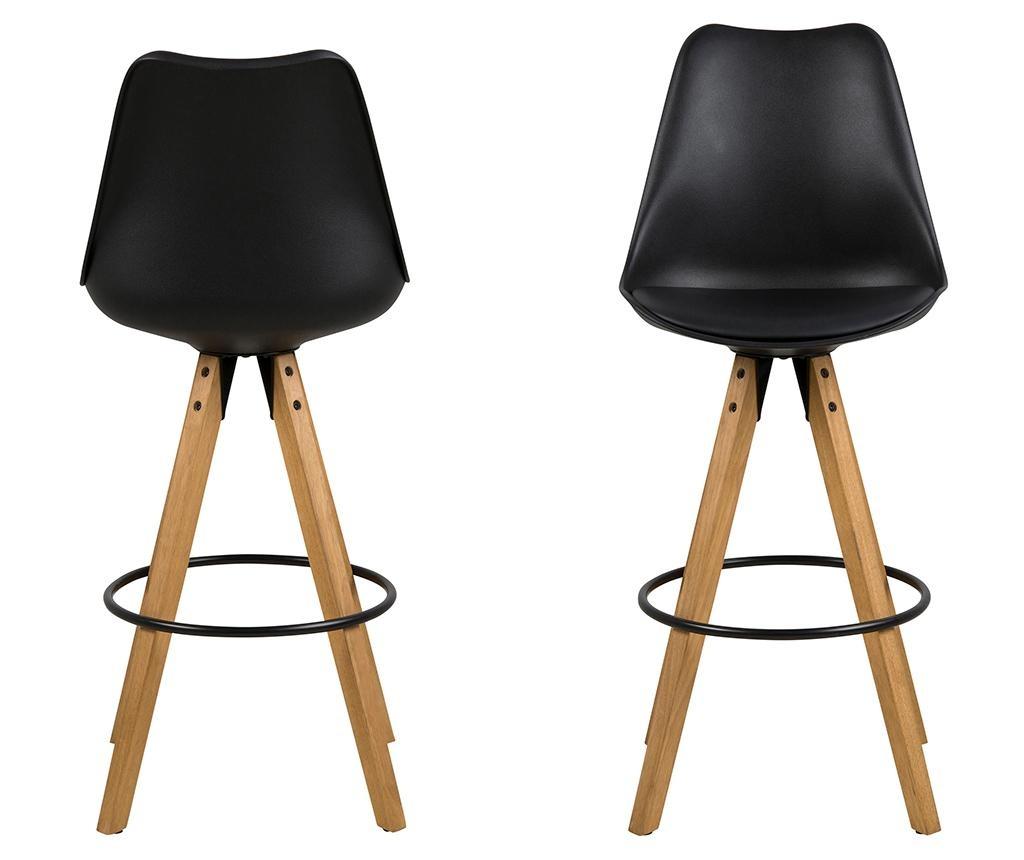 Set 2 barske stolice Dima Black