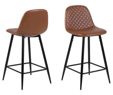 Set 2 barske stolice Wilma Mini Vintage Brandy