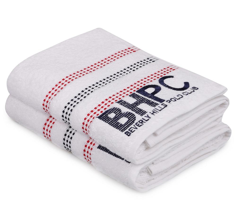 Set 2 kupaonskih ručnika Botanik White 50x90 cm