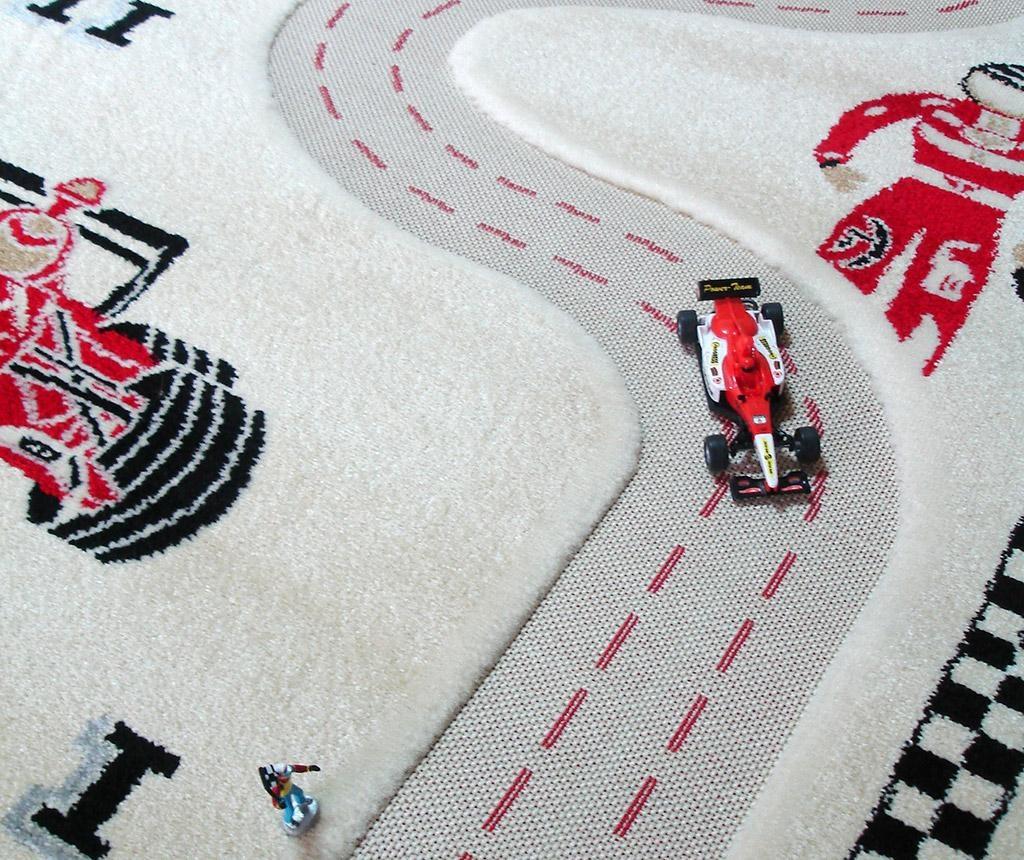 Racer 3D Cream Játszószőnyeg 100x150 cm