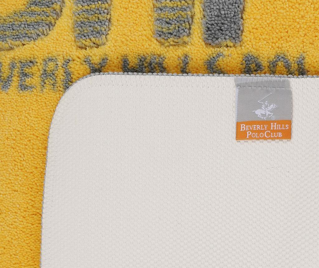 Calder Yellow Grey Fürdőszobai szőnyeg 57x100 cm