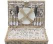 Cos echipat pentru picnic 4 persoane Letter