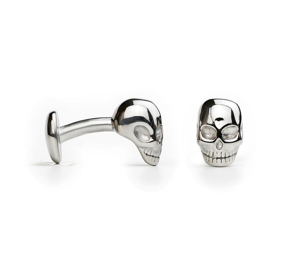 Manšetni gumbi Skull Silver