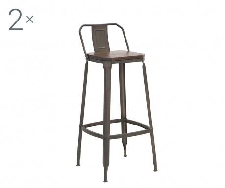 Zestaw 2 krzeseł barowych Harlem Ervin