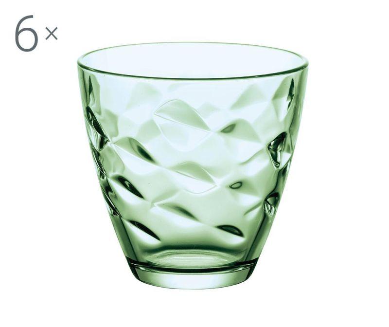 Set 6 čaša Flora Green 250 ml