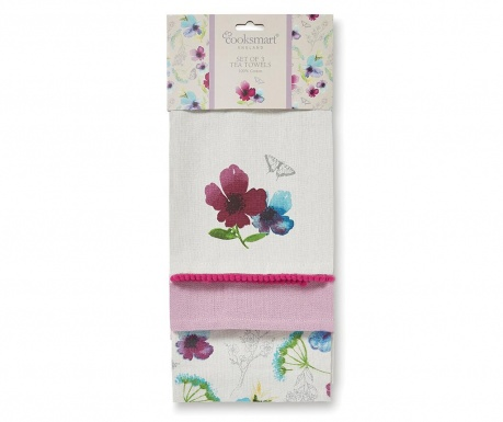 Set 3 prosoape de bucatarie Chatsworth Floral 45x65 cm