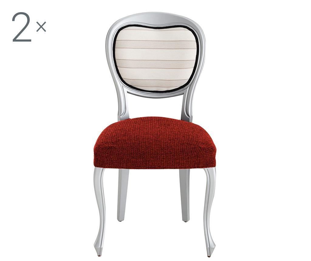 Dorian Dark Orange Backless 2 db Elasztikus huzat székre