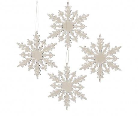Σετ 4 κρεμαστά διακοσμητικά Snowflakes