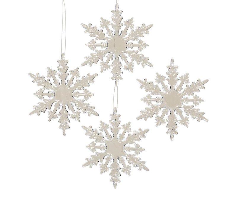 Set 4 decoratiuni suspendabile Snowflakes