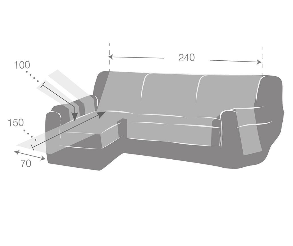 Калъф за ляв ъглов диван Constanza Linen 240 см