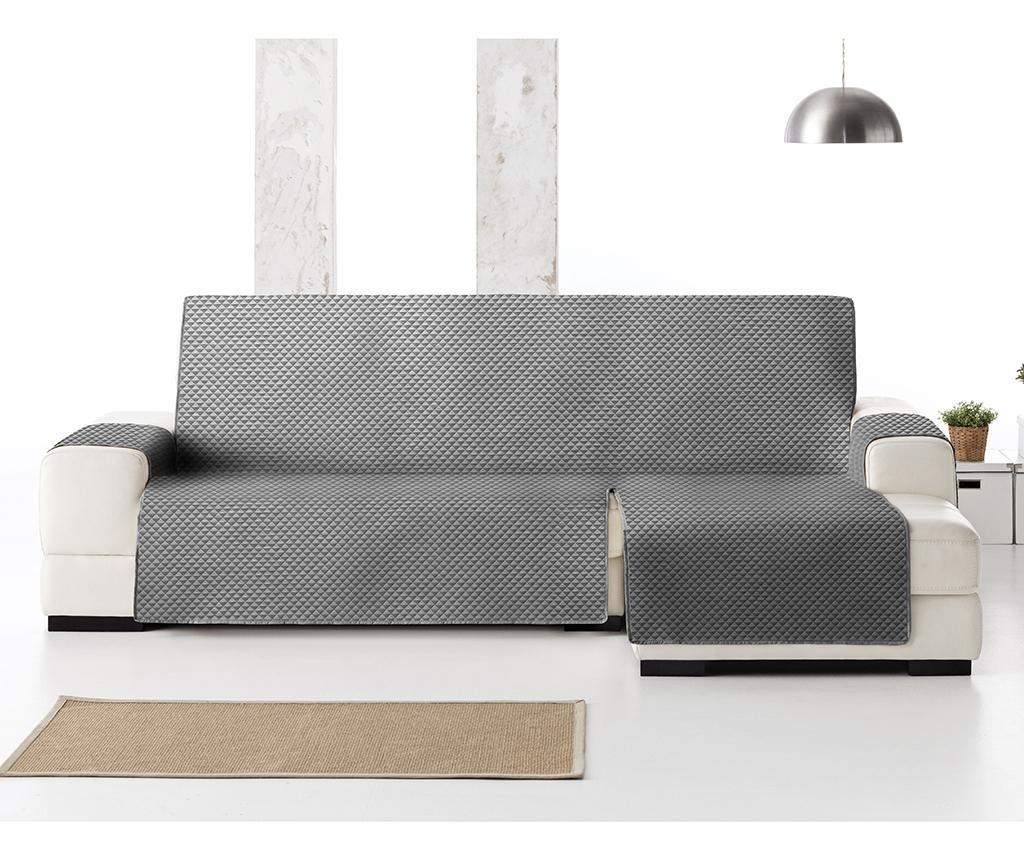 Ватиран калъф за десен ъглов диван Oslo Dark Grey 240 см
