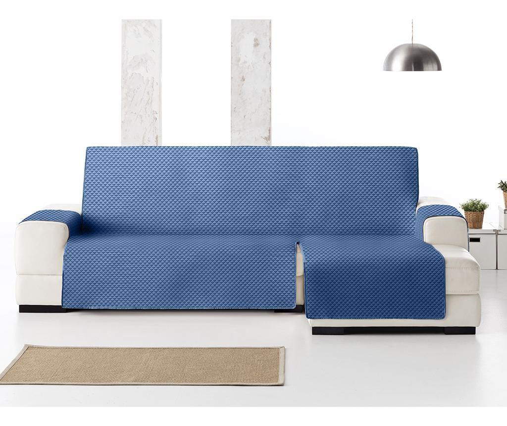 Ватиран калъф за десен ъглов диван Oslo Blue 240 см