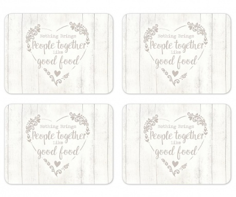 Set 4 individualuri Food for Thought 21.5x29 cm