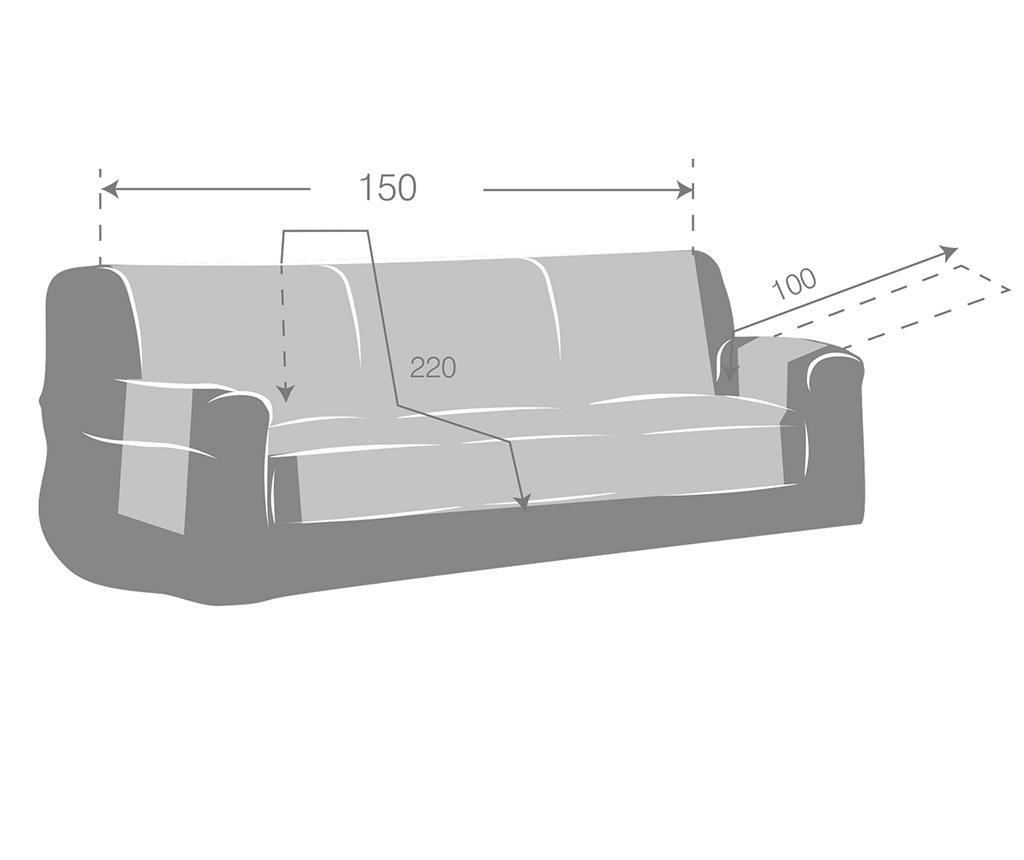 Oslo Reverse Brown & Tan Steppelt huzat kanapéra 150 cm
