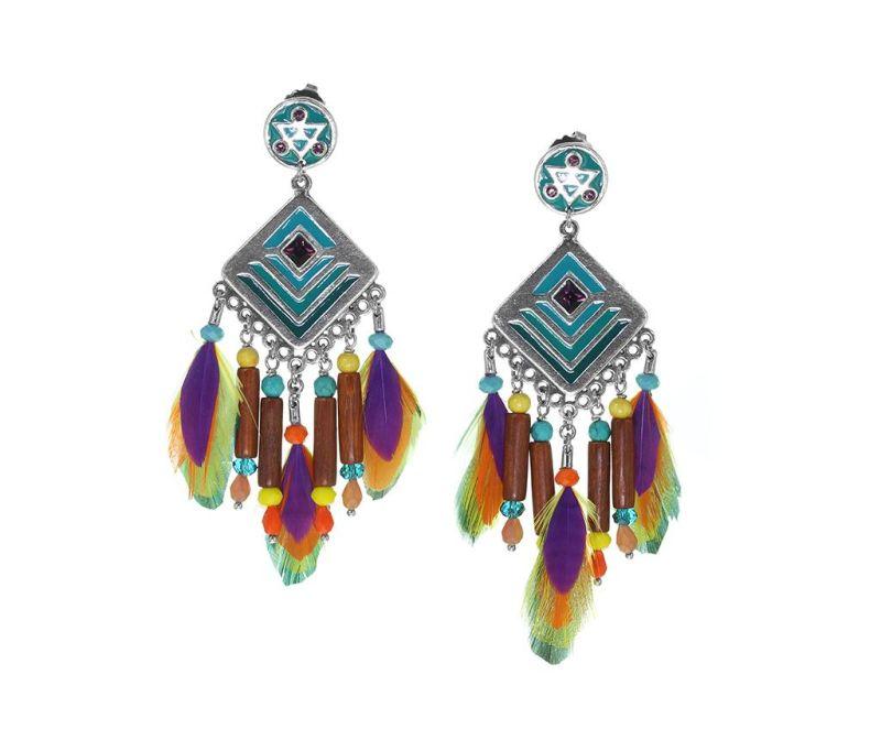 Cercei Kimya Rhombus Feathers