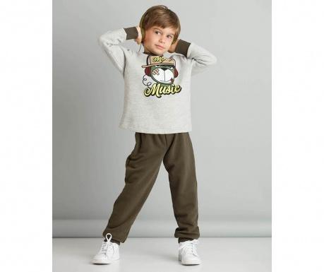 Set bluza si pantaloni copii More Music 2 ani