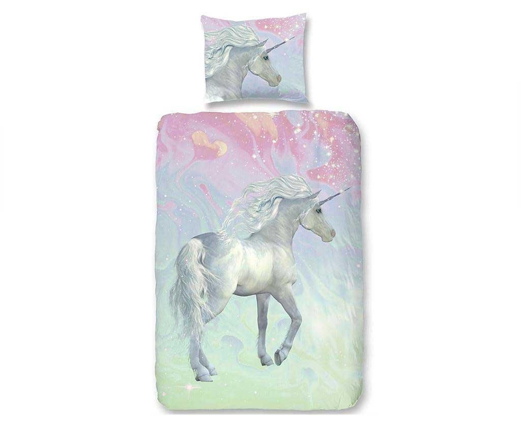 Posteljnina Single Ranforce Unicorn 140x200