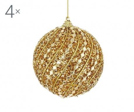 Set 4  globuri decorative Jasmyne Gold