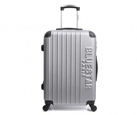Bucharest Silver Gurulós bőrönd 30.4 L