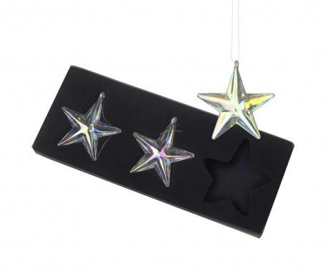 Set 3 viseća ukrasa Stars