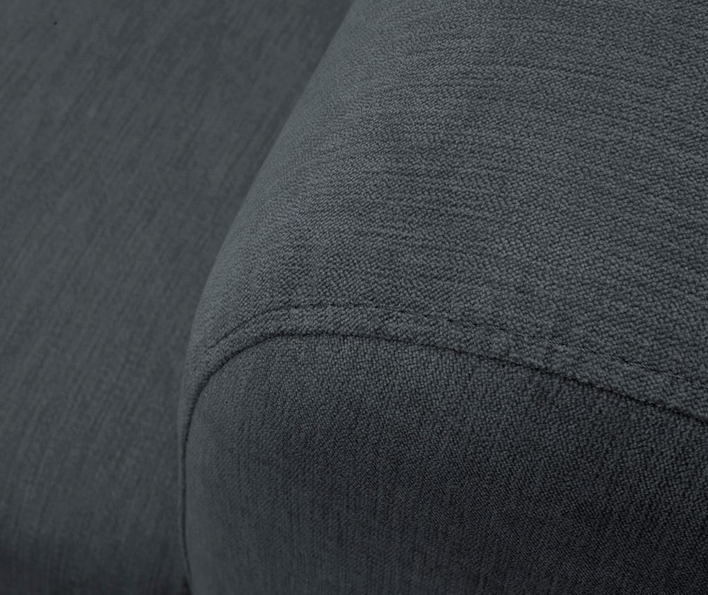 Třímístná pohovka Sigma Dark Grey