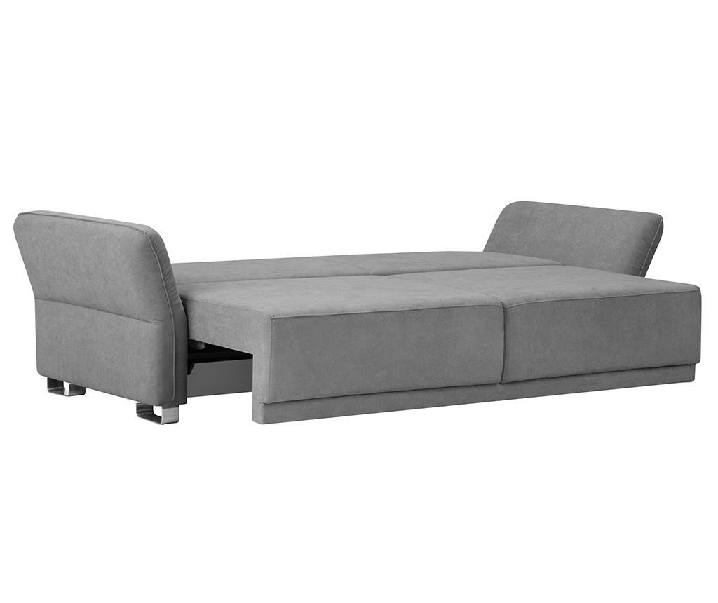 Canapea extensibila 3 locuri Casiopeia Light Grey