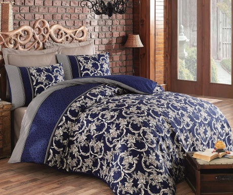 Posteljnina Double Sateen Pera  Dark Blue