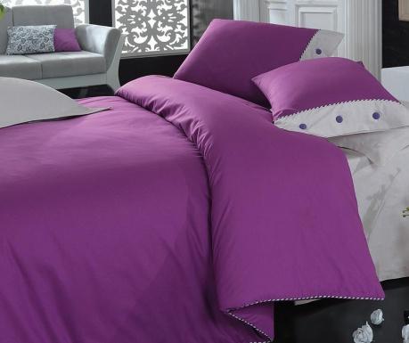 Спално бельо King Ranforce Plain Line  Purple