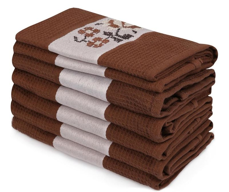 Set 6 kopalniških brisač Pecetelik  Brown 45x70 cm