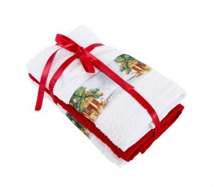 Zestaw 3 ręczników kąpielowych Warm 30x50 cm