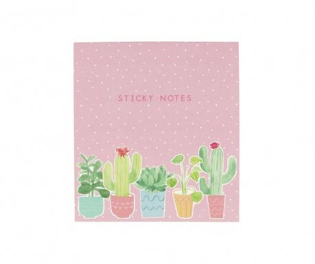 Set memo blokcev Pastel Cactus