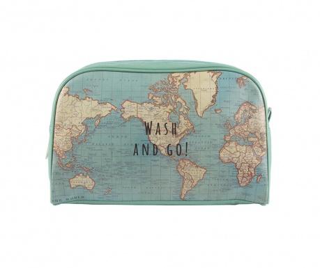 Kozmetična torbica Vintage Map