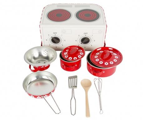 10-delni igralni set za kuhanje Kids Kitchen Daisies
