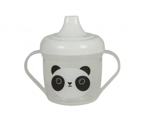 Hrnek s víkem pro děti Aiko Panda 220 ml