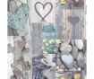Rustic Heart Natural Tapéta 53x1005 cm